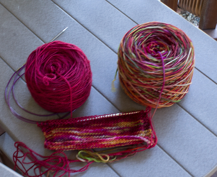 Swatch with yarns